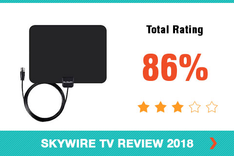 Skywire TV Antenna 2018 Shopper Review Rating Card Side Bar Image