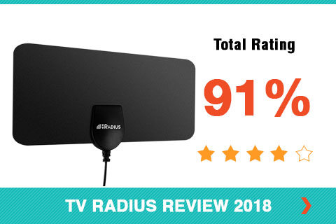 TV Radius Antenna 2018 Shopper Review Rating Card Side Bar Image